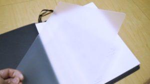 ノート挿入用のPPシート