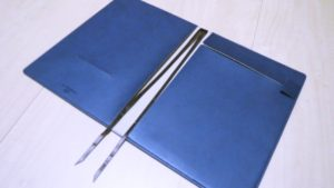2冊のノートで使える2本の付箋紐