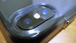 iPhoneX-Spigen-Hybrid-ClearCaseiPhoneX カメラガラス擦れ防止